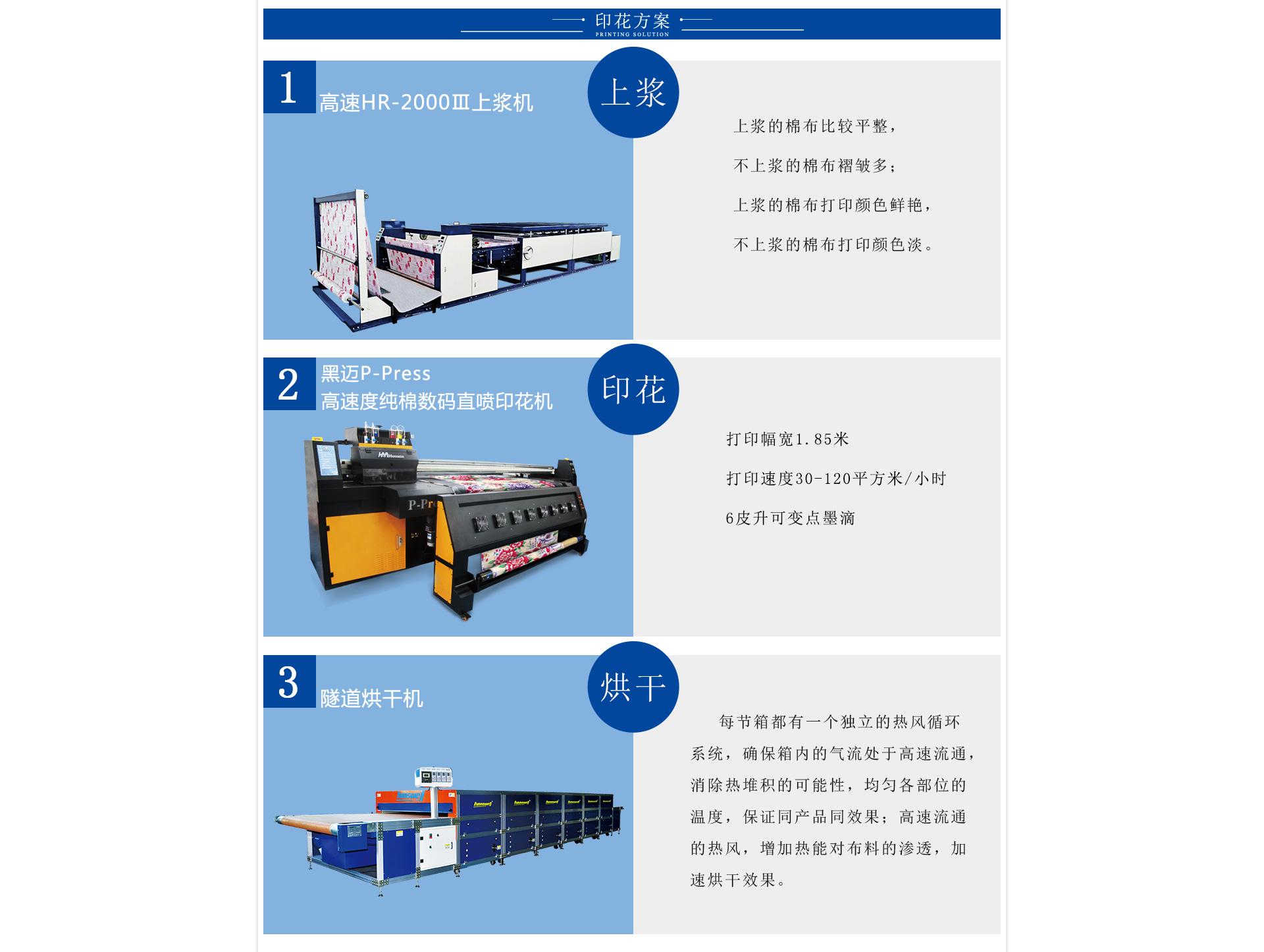 黑迈P-Press高速度纯棉数码直喷印花机
